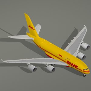airbus a380-800 f dhl a380 dwg