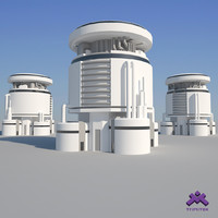 3d modern industrial building model