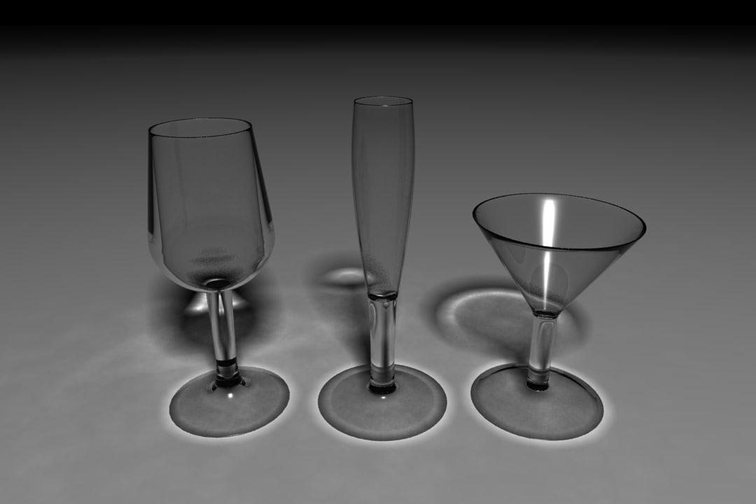 glasses bottle 3ds free