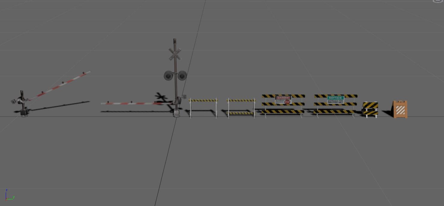 purpose barricades railroad crossing max