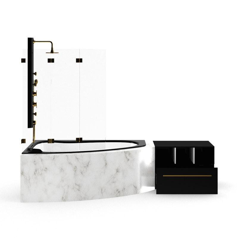 marble bathtube 3d max