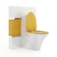 toilet bowl wooden elements 3d max