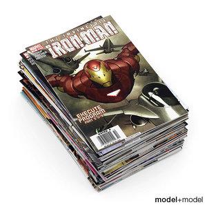 comics books 3d max