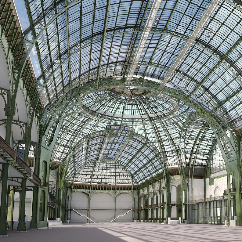3d grand palais paris model. Black Bedroom Furniture Sets. Home Design Ideas