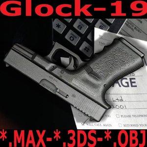 3d model glock19 weapons