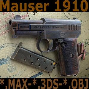 mauser 1910 3d max