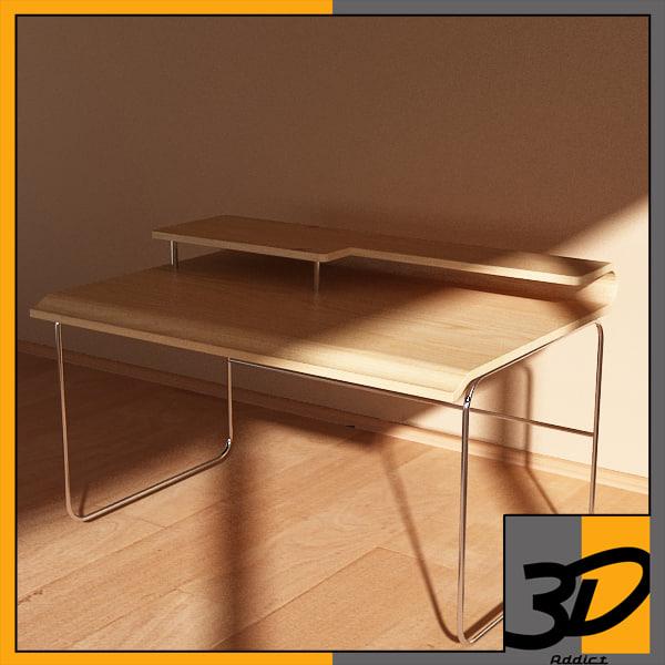 desk wave 3d max