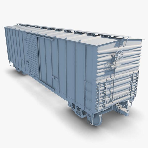 freight boxcar 3d obj