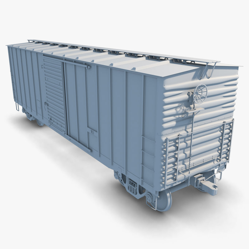 freight boxcar 3d obj