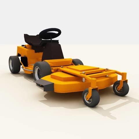 3dsmax rider mower