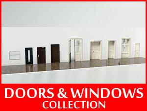 windows doors 3d model