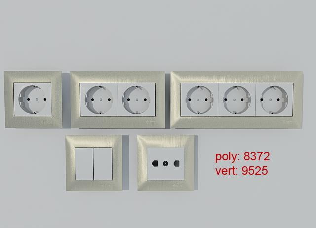 3d simon electrical equipment outlet model