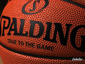 3d model of spalding basketball ball