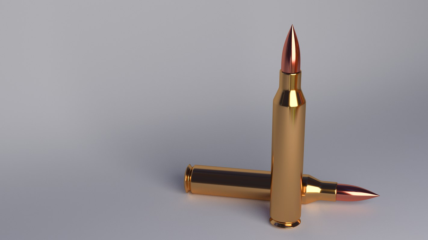 bullet blender cycles 3d model