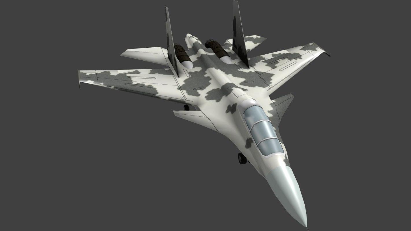 3d model sukhoi 30 fighter aircraft