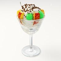 free ice cream 001 3d model