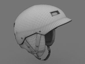 3d model snowboard helmet 2