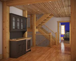 3d model interior stair