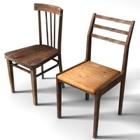 old chairs 3d model