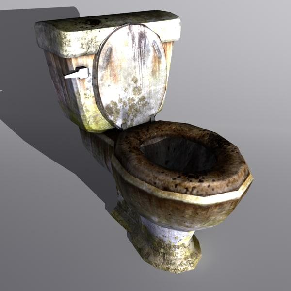 3d Model Toilet Dirty