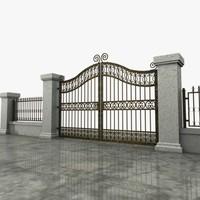 Wrought Iron Gate 04