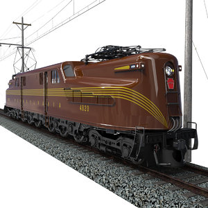 gg1 electric locomotive 3d model