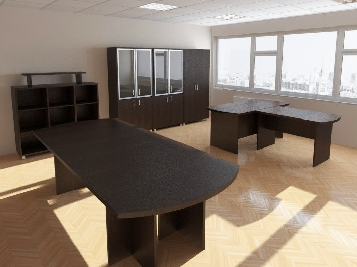 3ds max interior office