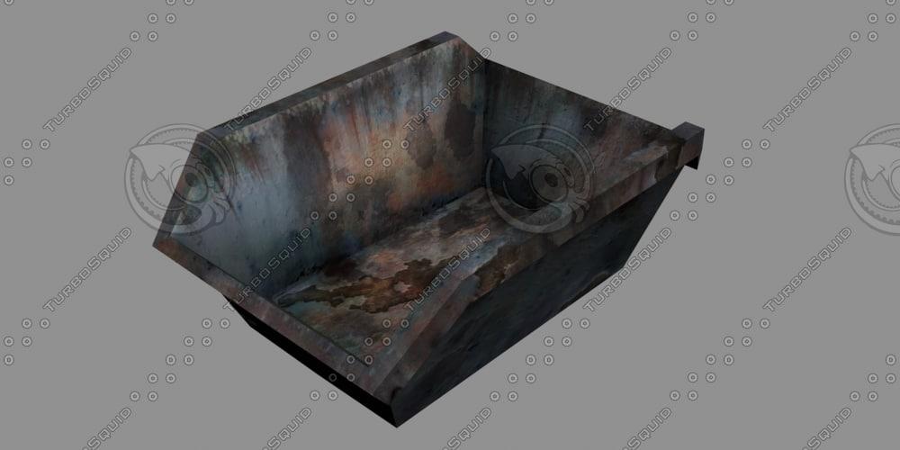 bin waste garbage 3d model