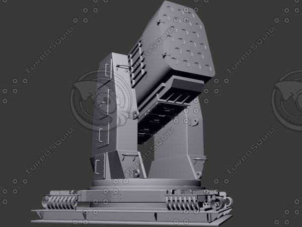 3d airframe missile launcher model