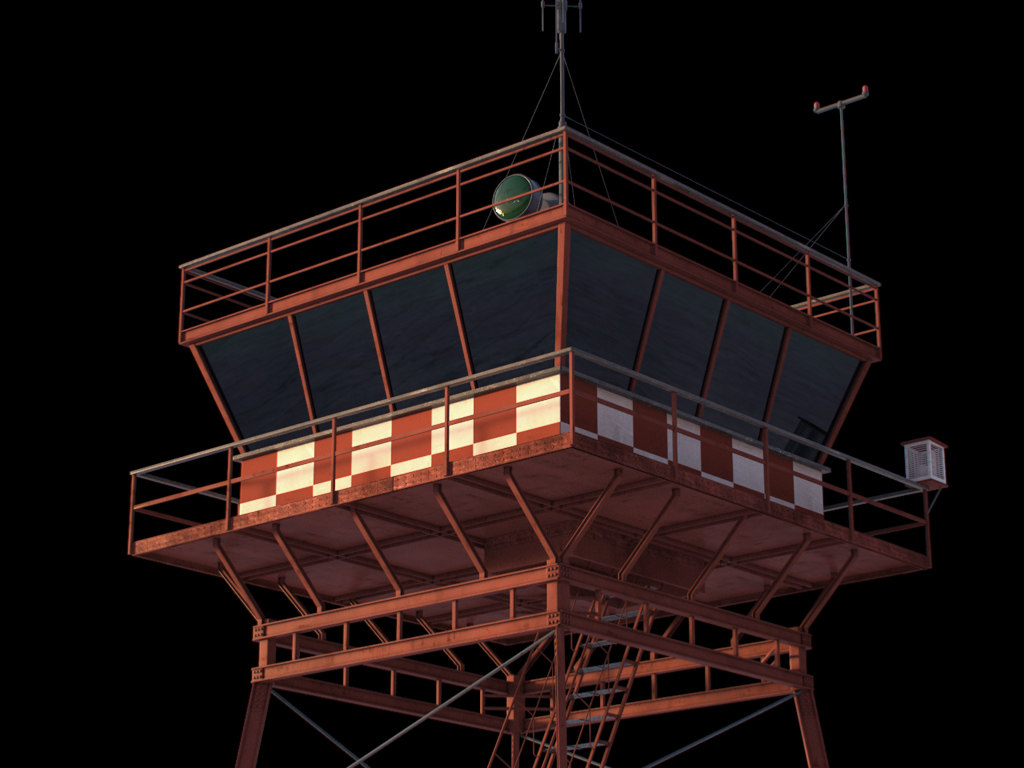 traffic control tower 3d max