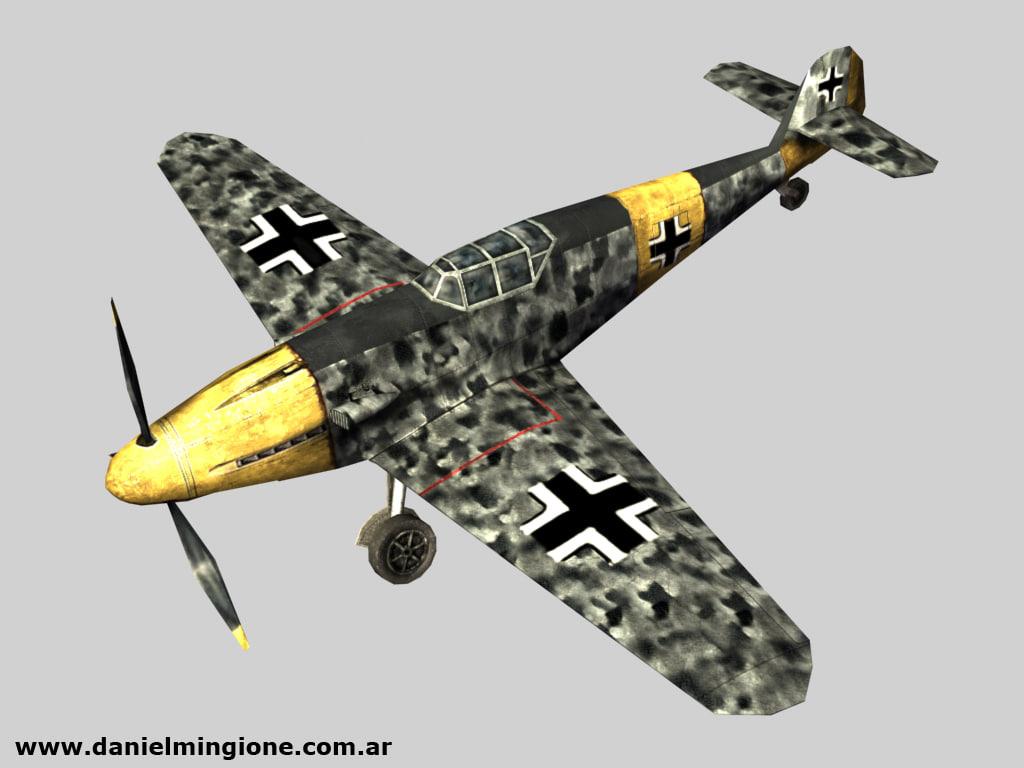 3d model bf 109 fighter