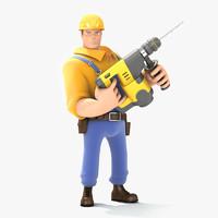 3d worker bob model