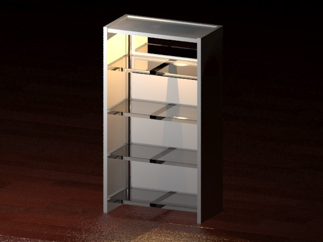 3d bookshelf light model