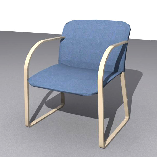 3d model chair library office