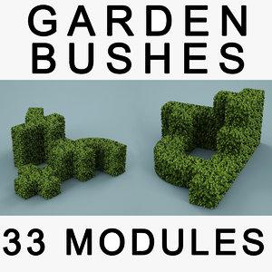 garden bush 3d model