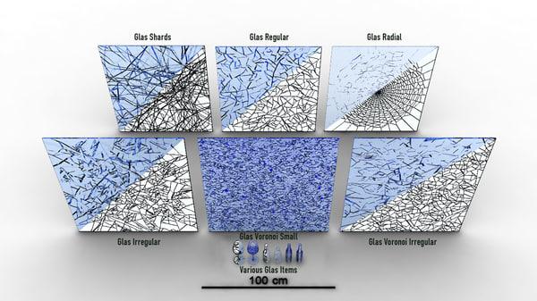Glass Debris 3D Models for Download | TurboSquid