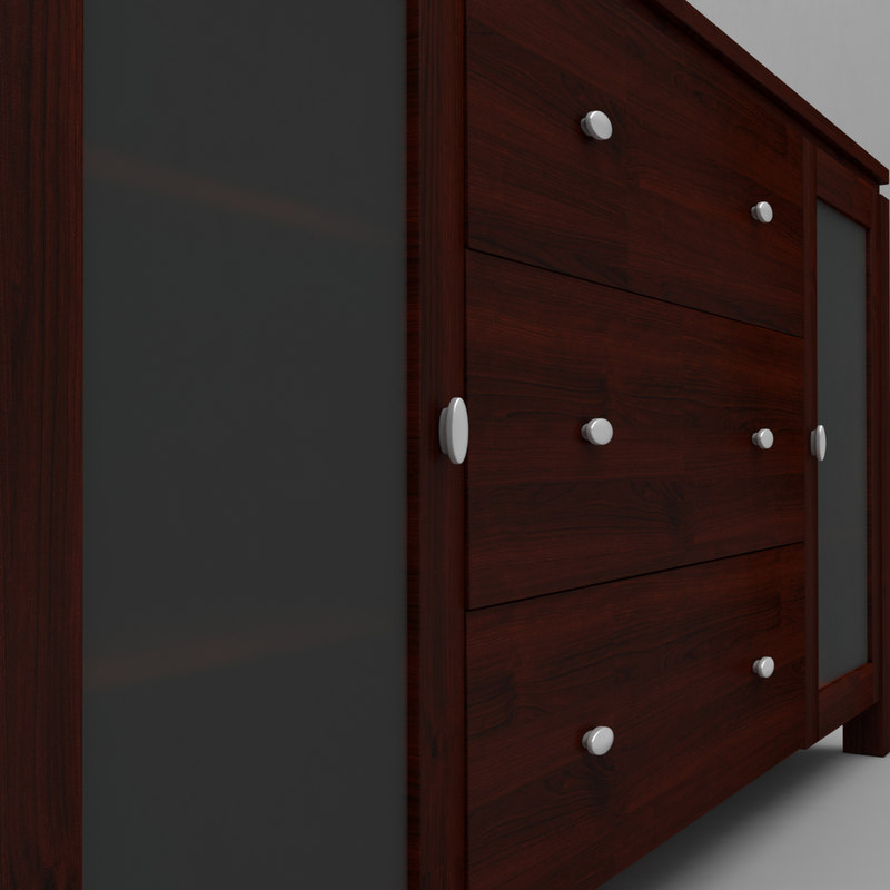 3d model buffet console table