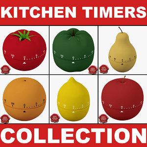 3d kitchen timers model