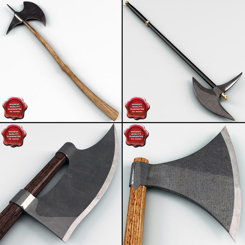 3ds medieval axes v1