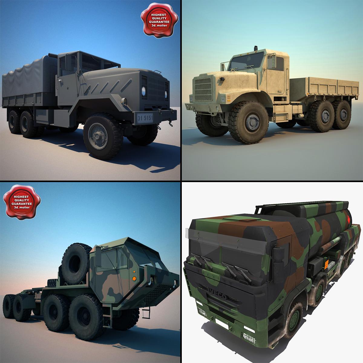 military trucks 3d 3ds