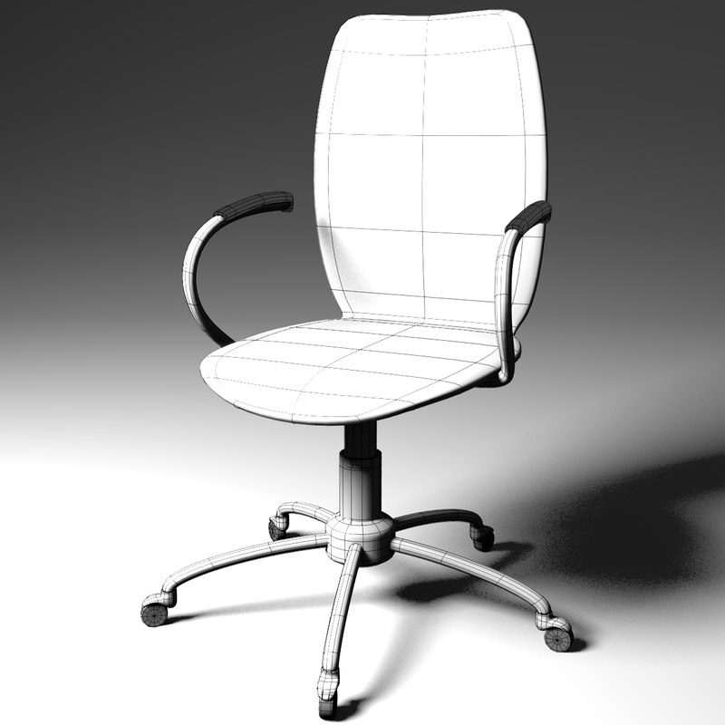 Free 3ds Model Modern Office Computer Chair