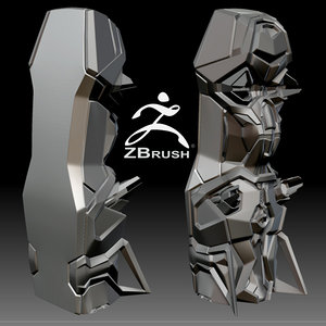 3d model futuristic cryopod zbrush