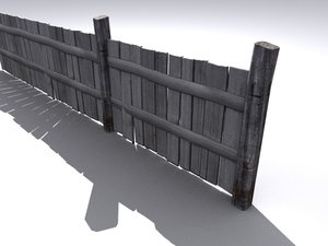 old fence obj