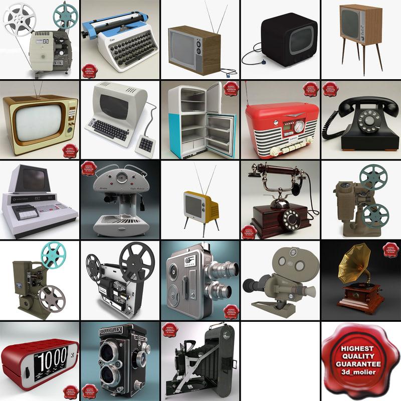 retro electronics v7 3d model