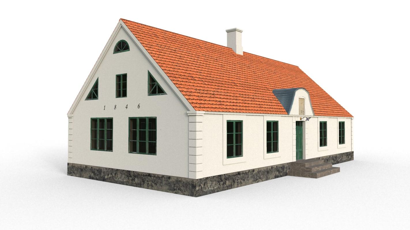 3dsmax house school