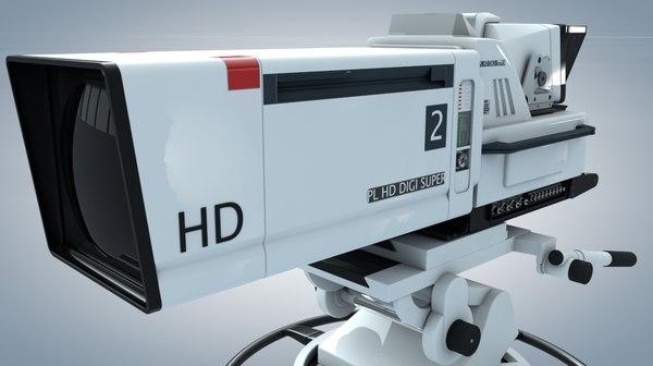 3d model of tv studio camera