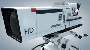 3d model of tv studio camera