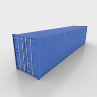 3d model 40ft shipping container