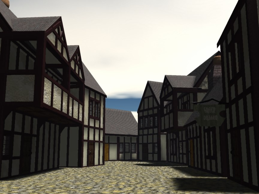 3d london cottages model
