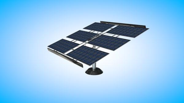 solar panel 3d dxf